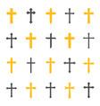 religious cross symbol vector image