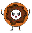 sweet donuts kawaii character vector image