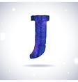 Watercolor letter J vector image