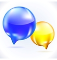 Glass speech bubbles vector image vector image