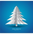 Simple christmas tree made from pieces of paper vector image vector image