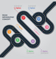 navigation map infographic template vector image