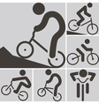 2283 cycling BMX icon vector image