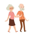 Grandmother and grandfather in modern flat design vector image