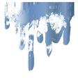 Blue paint drips design element vector image