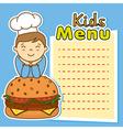 boy with hamburger vector image