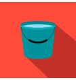 Bucket full of water flat icon vector image