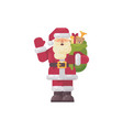 cheerful santa claus waving his hand vector image