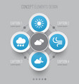 climate icons set collection of wet weather vector image
