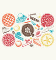 collection of vintage baking vector image