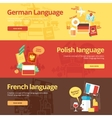 Flat banners for german polish french vector image