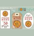 italian pizza stickers set vector image