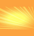 orange rays abstract background vector image