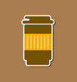 paper sticker on stylish background coffee to go vector image