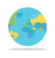 Planet Earth with Countries vector image
