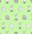 Retro Easter Seamless Pattern With Rabbits And vector image