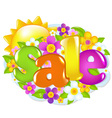 Spring Sale Sign vector image