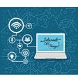 laptop internet of things design vector image