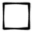 square graffiti thin sprayed icon in black vector image