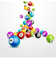 Bingo lottery balls numbers background Lottery vector image
