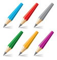 set of stylized pencils vector image vector image