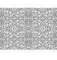 seamless ornament background of interlacing bands vector image