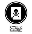 Cyber security digital design vector image