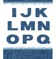 jeans letters i-q vector image vector image
