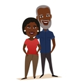 Happy black middle aged couple isolated vector image
