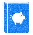 pig handbook icon grunge watermark vector image