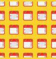 colorful geometric seamless pattern - calendar vector image