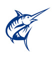 blue marlin fish jumping vector image