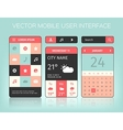 mobile interface elements vector image