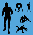wrestling collection vector image vector image