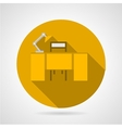 Flat icon for office desk vector image