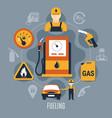 fuel pump concept vector image