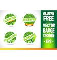 Gluten free Badge Logo vector image