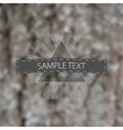 logo at blurred background vector image