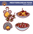 mediterranean food collection of tasty vector image