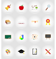 school education flat icons 17 vector image