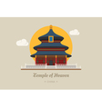 Temple of heaven china eps10 format vector image