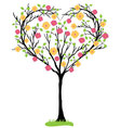 tree heart shaped vector image