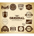 Vintage labels Collection 2 vector image