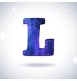 Watercolor letter L vector image