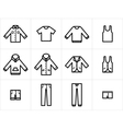 Clothing Icons Set 1 vector image vector image