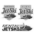 Set of Jet Ski rental born logo vector image