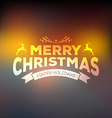 Christmas calligraphy on blured background vector image