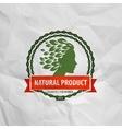 natural product Logo icon sign emblem stamp vector image