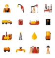 Oil Industry Icons Flat vector image
