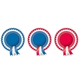 4th of july independence day rosette vector image
